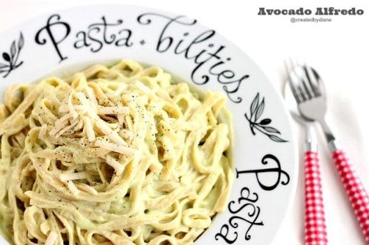 Avocado Alfredo Sauce #Recipe @createdbydiane