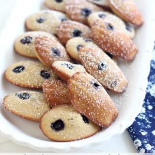 Blueberry Madeleines
