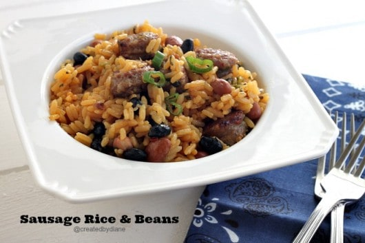 Sausage Rice and Bean #recipe @createdbydiane