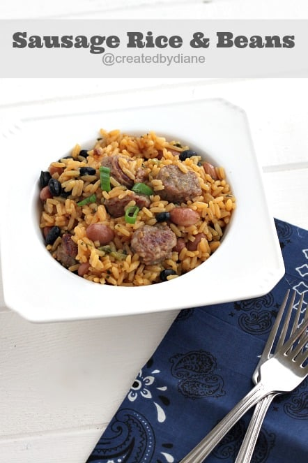 Sausage Rice and Beans @createdbydiane