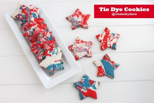 Tie Dye Cookies from @createdbydiane