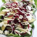 avocado, goat cheese and beet salad @createdbydiane