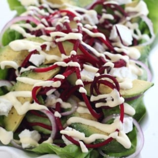avocado, goat cheese and beet salad