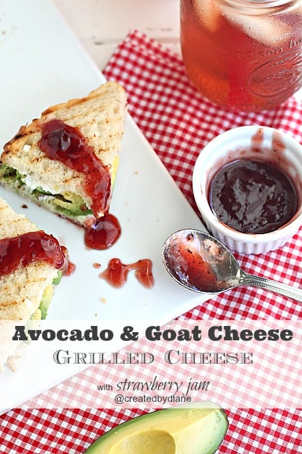 avocado goat cheese grilled cheese