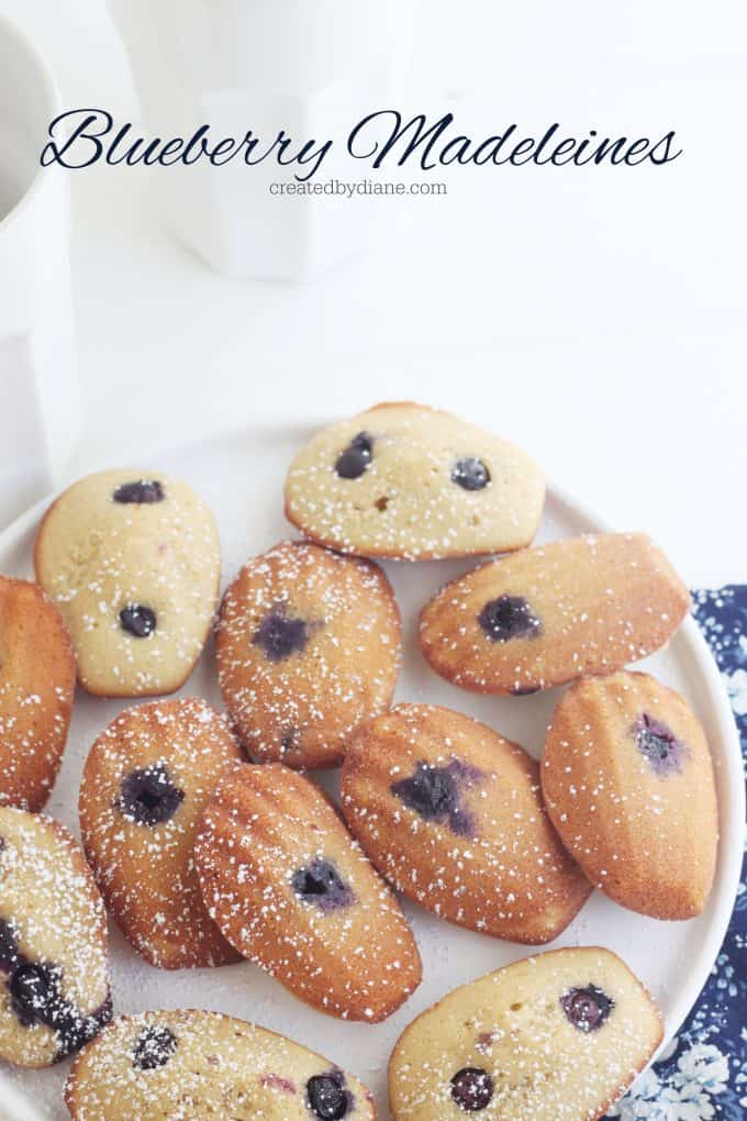 blueberry madeleine recipe createdbydiane.com
