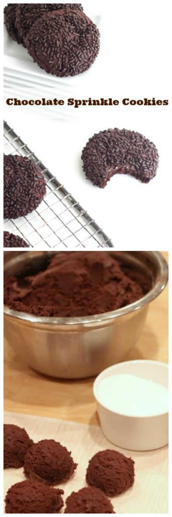chocolate sprinkle cookies www.createdbydiane.com
