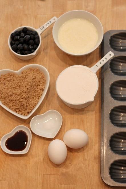how to make blueberry madeleines @createdbydiane