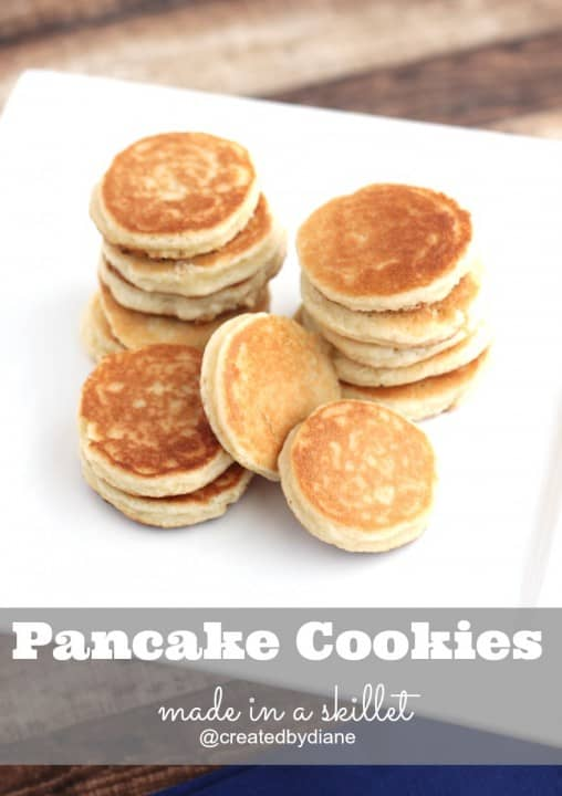pancake cookies made in a skillet from @createdbydiane
