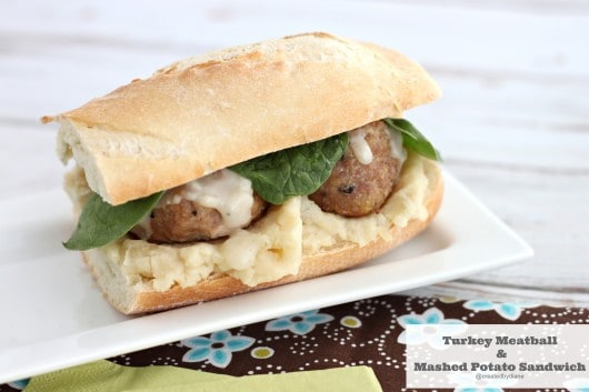 turkey meatball and mashed potato sandwich @createdbydiane