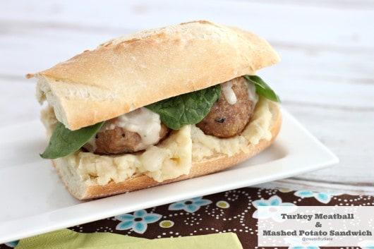 turkey meatball and mashed potato sandwich @createdbydiane