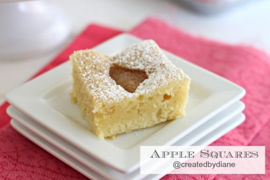 Apple Squares recipe from @createdbydiane