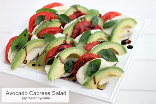 Avocado Caprese Salad @createdbydiane.jpg