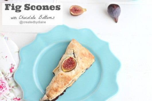 Fig Scones with chocolate bottoms from @createdbydiane