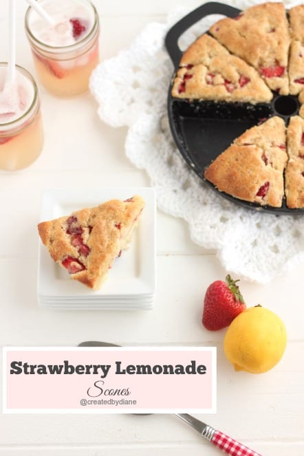 Strawberry Lemonade Scones @createdbydiane