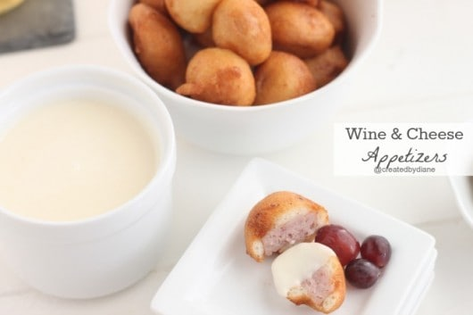 Wine and cheese appetizers from @createdbydiane