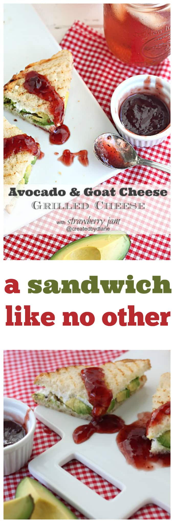 avocado and goat cheese grilled cheese sandwich @createdbydiane