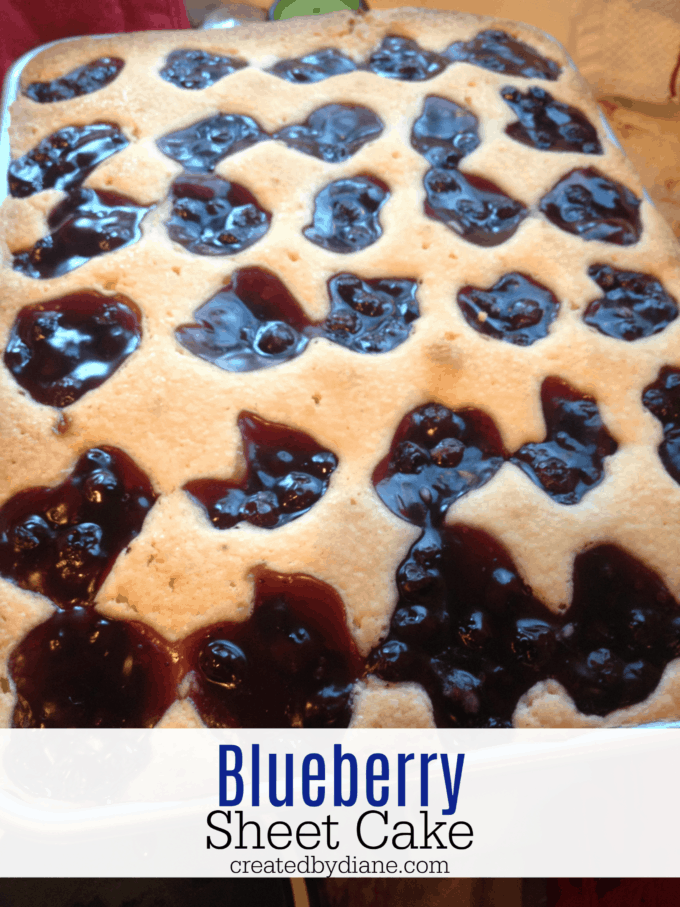 blueberry sheet cake, fruit squares, createdbydiane.com
