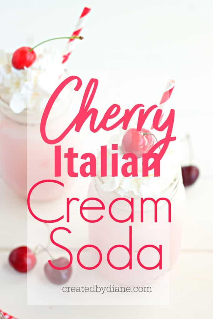 cherry italian cream soda, natural soda, fruit soda createdbydiane.com