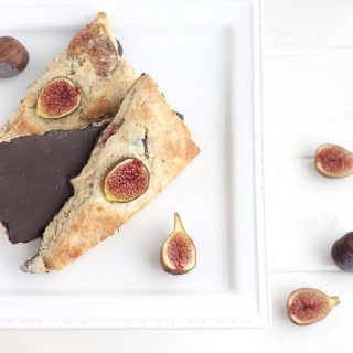Fig Scones with Chocolate