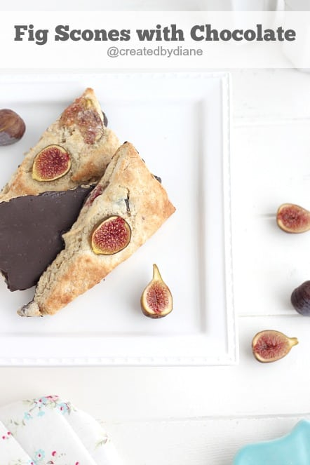 fig scones with chocolate bottoms @createdbydiane