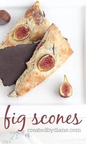fig chocolate scones, cake created by diane.com