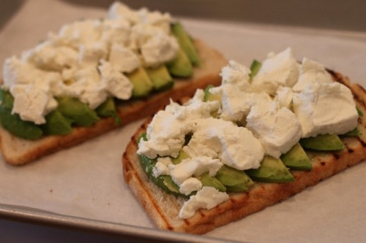 grilled goat cheese and avocado sandwich @createdbydiane