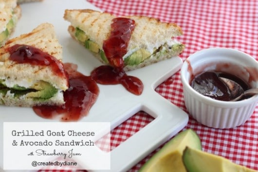 grilled sweet and savory grilled cheese with goat cheese and avocado along with strawberry jam @createdbydiane @ca_avocados #grownupgrilledcheese.jpg