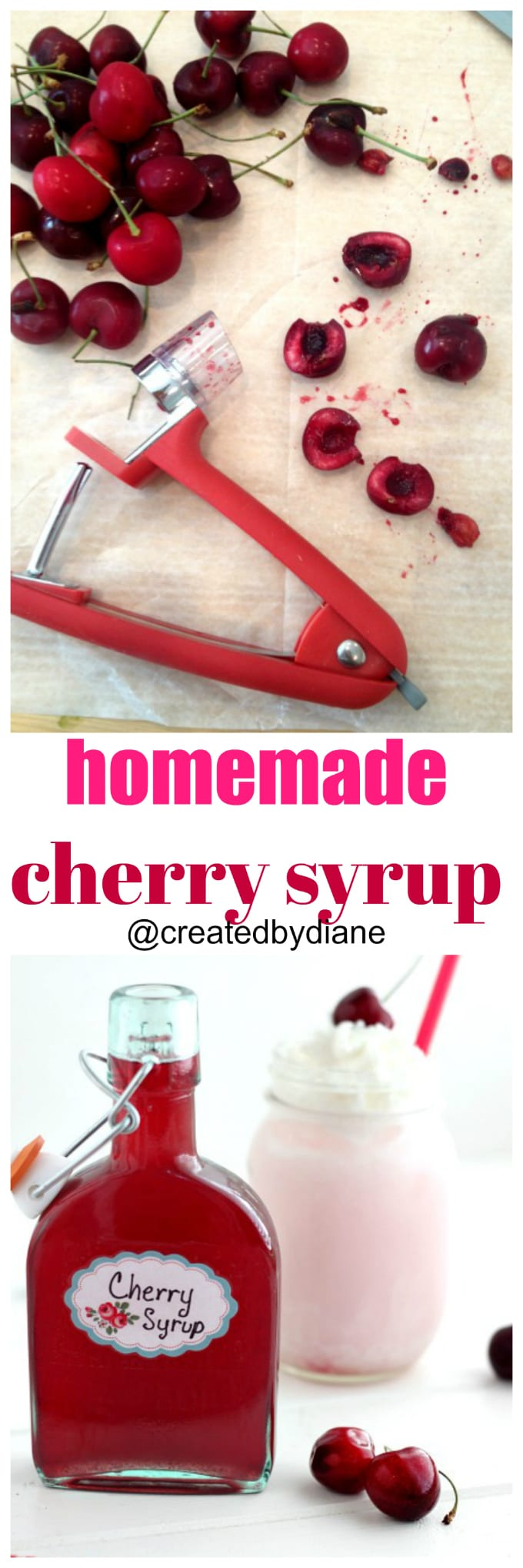 homemade cherry syrup @createdbydiane