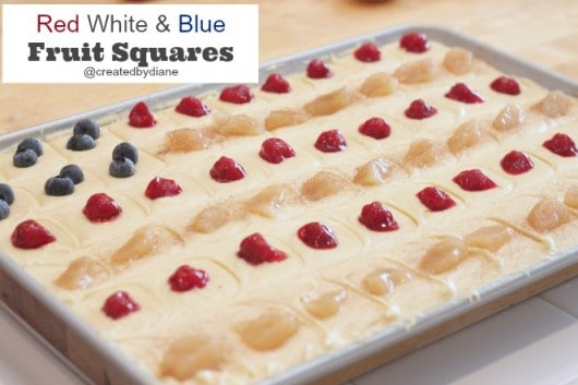 red white and blue fruit squares #patriotic @createdbydiane