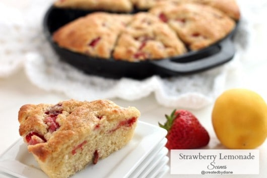 strawberry lemonade scones from @createdbydiane