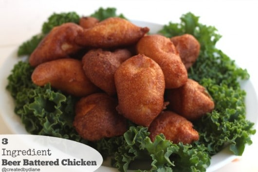 3 Ingredient Beer Battered Chicken from @createdbydiane