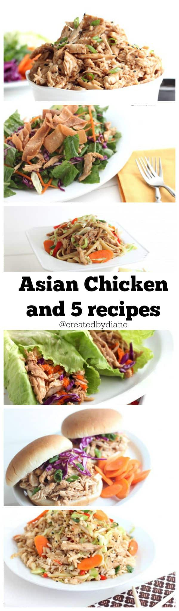 Asian Chicken Recipes @createdbydiane