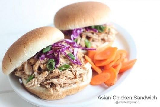 Asian Chicken Sandwich @createdbydiane