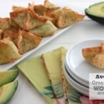 Avocado Cream Cheese Wontons @createdbydiane