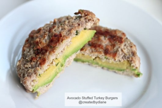 Avocado Stuffed Turkey Burgers @createdbydiane