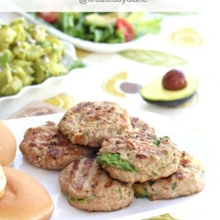 Avocado Stuffed Turkey Burgers with Summer BBQ Menu