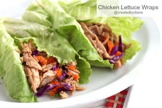 Chicken Lettuce Wraps @createdbydiane