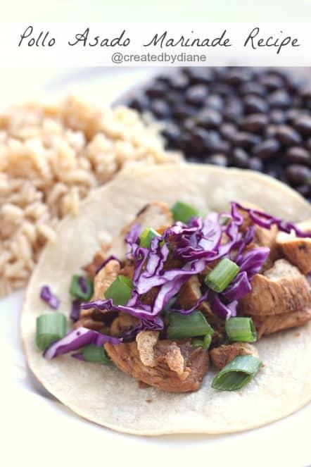 Delicious Pollo Asado Marinade Recipe @createdbydiane