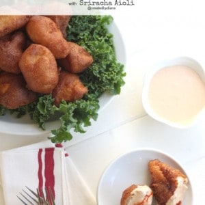 EASY Beer Battered Chicken with Sriracha Aioli @createdbydiane