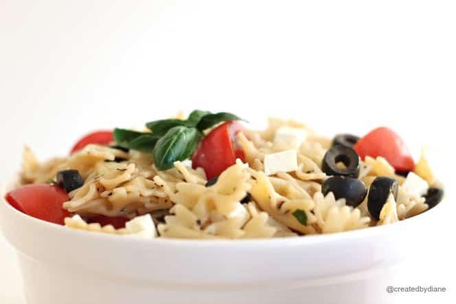 Feta Basil Pasta Salad