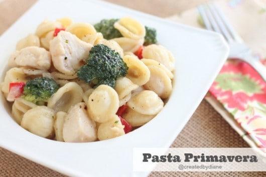 Pasta Primavera Recipe @createdbydiane