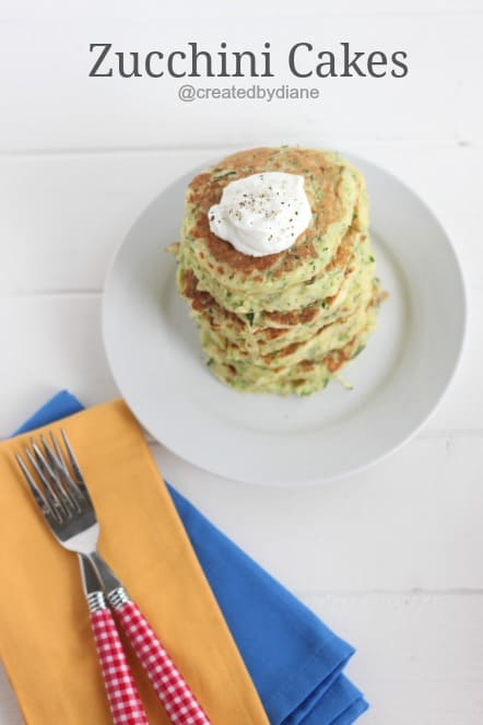 Zucchini Cakes from @createdbydiane