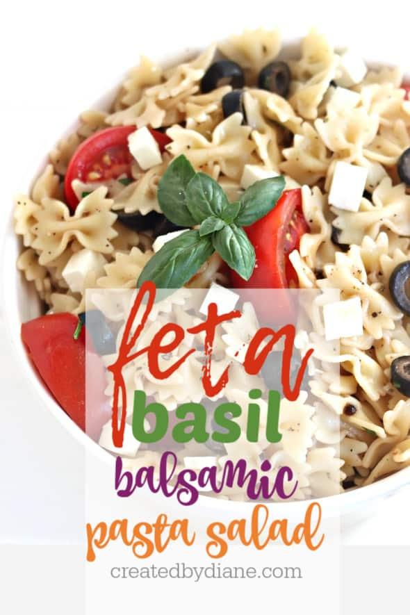 feta basil balsamic with olive pasta salad createdbydiane.com
