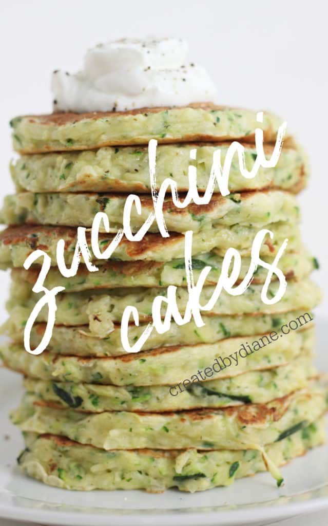zucchini cakes recipe createdbydiane.com