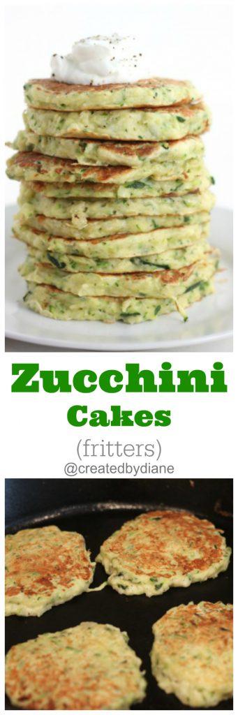 zucchini cakes (veggie pancakes) fritters @createdbydiane