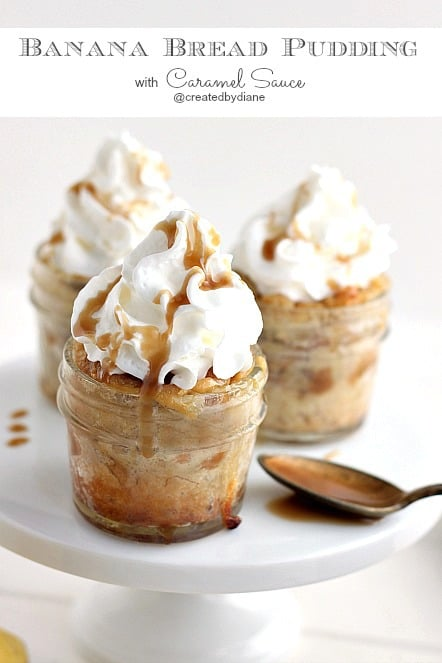 Caramel-Banana Bread Puddings Recipe — Dishmaps