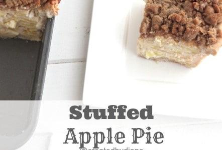 Sour Cream Apple Pie Recipe #recipe @createdbydiane the best stuffed apple pie  you will ever eat!
