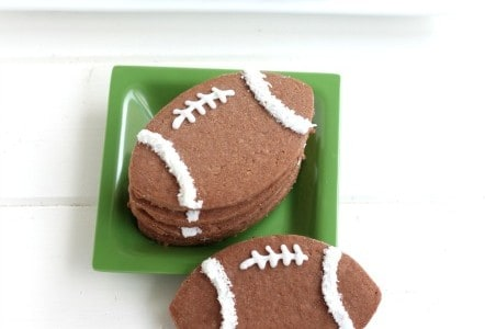 Chocolate Coconut Football Cookies from @createdbydiane #football #cookies #gameday #chocolate