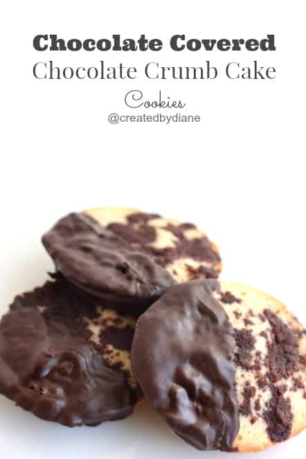 Chocolate Covered Chocolate Crumb Cake Cookies @createdbydiane