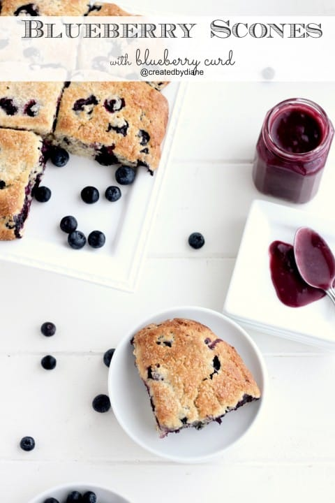 Homemade blueberry scone with yummy blueberry curd from @createdbydiane